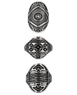 Kit 3 anéis prateados Beltaine