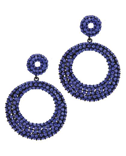 maxi brinco preto e azul Cynthia