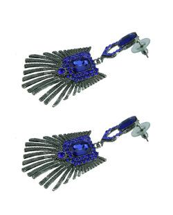 Maxi brinco grafite e azul Idée