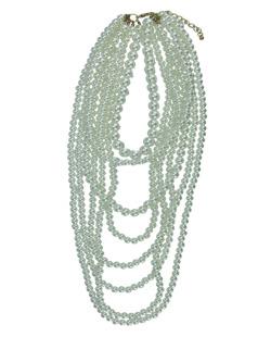 maxi colar dourado e pérola Mahabad