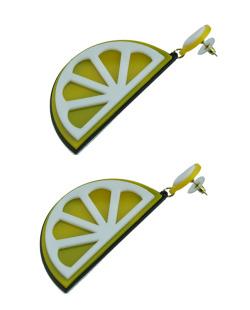 Maxi brinco acrílico limão