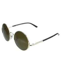 Óculos de sol dourado e marrom Nebraska