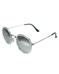 Óculos de sol prateado, transparente e espelhado Wisconsin