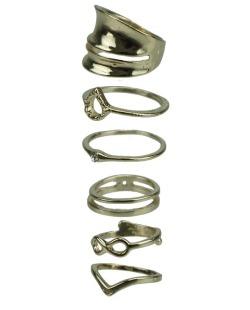 Kit de 6 anéis dourados Guntur
