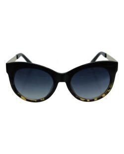 Óculos de sol preto, tartaruga e dourado Cavalli