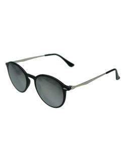 Óculos de sol prateado e preto Sandy Powell