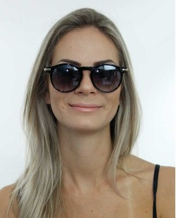 Óculos de sol dourado e preto Domenico Dolce
