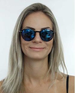 Óculos de sol preto e lente azul Valentino Garavani
