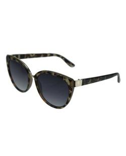 Óculos de sol dourado e tartaruga Miuccia Prada