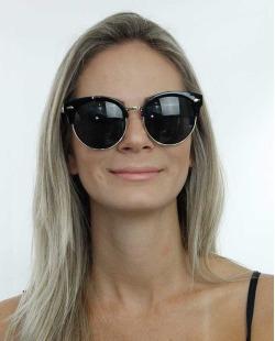 Óculos de sol dourado e preto Hilfiger