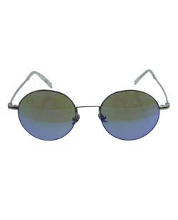 Óculos de sol prateado e lente espelhada azul Herrera