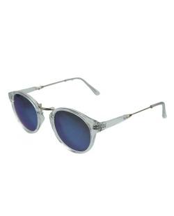 Óculos de sol transparente e lente azul Jean-Paul