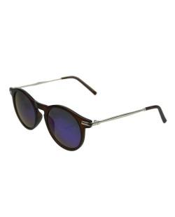 Óculos de sol dourado, marrom e lente espelhada Herve Leger