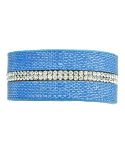 Pulseira azul e cristal Serj