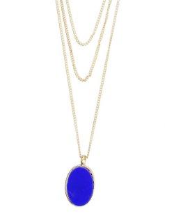 Maxi colar dourado e azul Perle