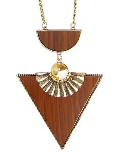 Maxi colar dourado,marrom e licor Échid