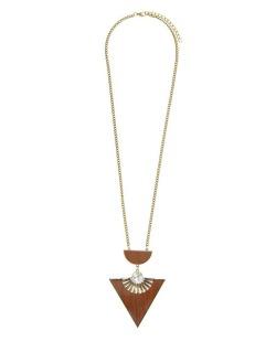 Maxi colar dourado,marrom e cristal Échid