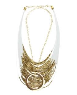 Maxi colar dourado e dourado escuro coll