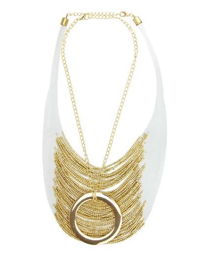 Maxi colar dourado coll