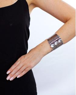 Bracelete grafite e cristal Chase