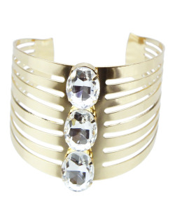 Bracelete dourado e cristal Chase