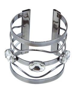 Bracelete grafite e cristal Madlyn