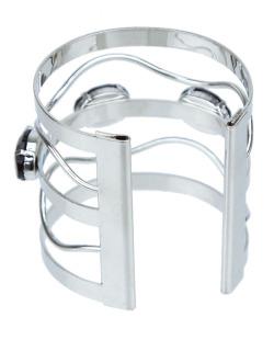 Bracelete prateado e preto Madlyn