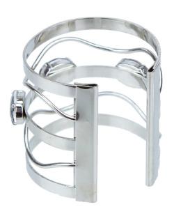 Bracelete prateado e fumê Madlyn