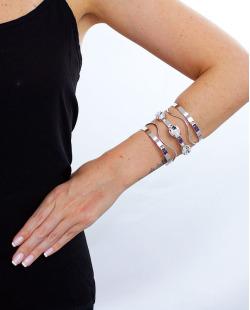 Bracelete prateado e cristal Madlyn