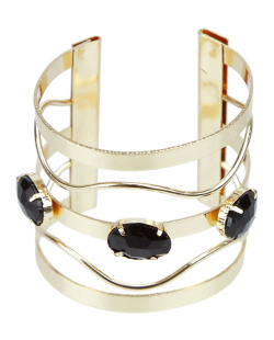 Bracelete dourado e preto Madlyn