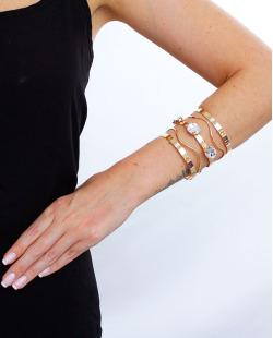 Bracelete dourado e cristal Madlyn