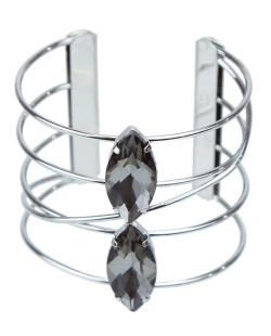 Bracelete prateado e fumê Jade