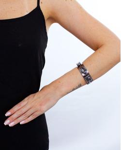 Bracelete grafite e fumê Jout