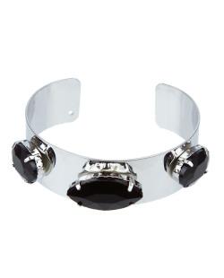 Bracelete prateado e preto Jout