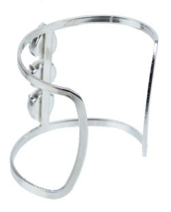 Bracelete prateado, cristal e perolado Nouveau