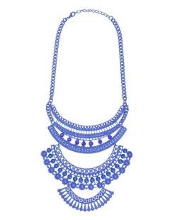 Maxi colar azul Sen