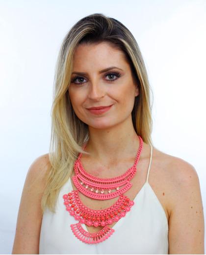 Maxi colar rosa Sen