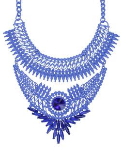 Maxi colar azul Dunn