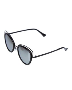 Óculos de sol preto e espelhado cinza Swoop