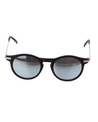 Óculos de sol preto e espelhado cinza Bane