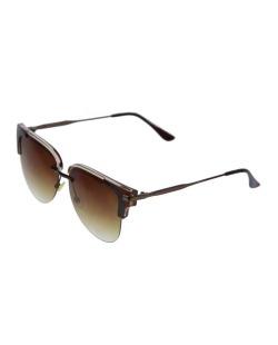 Óculos de sol marrom e caramelo Kent