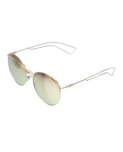 Óculos de sol dourado e espelhado rosa Slay