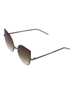 Óculos de sol dourado e marrom Tea