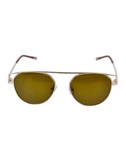 Óculos de sol dourado e marrom Kasey