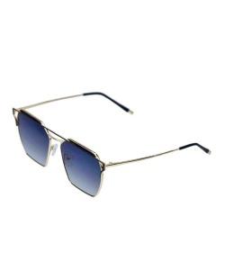 Óculos de sol dourado e preto Square