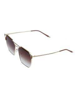 Óculos de sol dourado e marrom Square