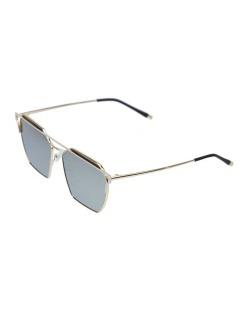 Óculos de sol dourado e espelhado cinza Square