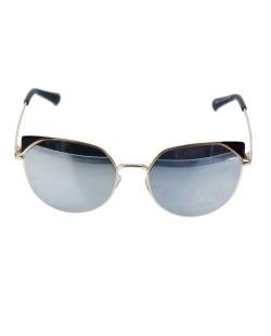 Óculos de sol dourado e espelhado cinza Kat