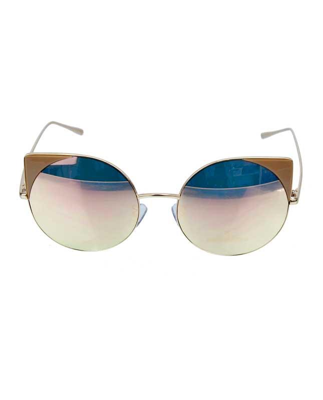 4b81d41cc7bab Óculos de sol dourado e espelhado rosé Werk