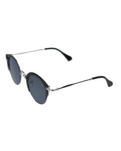 Óculos de sol prateado e preto Gea